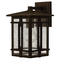 Hinkley 1960OZ Tucker 1 Light 12 inch Oil Rubbed Bronze Outdoor Wall Mount Clear Seedy Glass