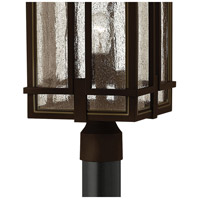 Hinkley 1961OZ-LED Tucker LED 21 inch Oil Rubbed Bronze Outdoor Post Mount, Clear Seedy Glass alternative photo thumbnail