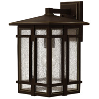 Hinkley 1964OZ-LED Tucker LED 15 inch Oil Rubbed Bronze Outdoor Wall Mount, Clear Seedy Glass