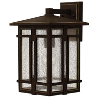 Hinkley 1964OZ Tucker 1 Light 15 inch Oil Rubbed Bronze Outdoor Wall Mount, Clear Seedy Glass