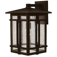 Hinkley 1965OZ Tucker 1 Light 18 inch Oil Rubbed Bronze Outdoor Wall Mount, Clear Seedy Glass
