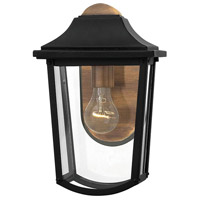 Hinkley 1970BK Burton 1 Light 13 inch Black Outdoor Wall Mount, Clear Beveled Glass