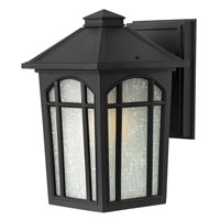 Hinkley Lighting Cedar Hill 1 Light Dark Sky Outdoor Wall Lantern in Black 1980BK-DS