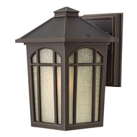 Hinkley 1980OZ-GU24 Cedar Hill 1 Light 9 inch Oil Rubbed Bronze Outdoor Wall in GU24, Linen Glass
