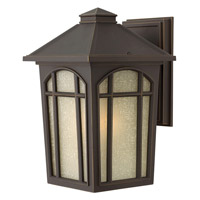 Cedar Hill 1 Light 13 inch Oil Rubbed Bronze Outdoor Wall in GU24, Linen Glass