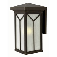 Drake 1 Light 21 inch Oil Rubbed Bronze Outdoor Wall in GU24