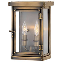 Hamilton 2 Light 11 inch Dark Antique Brass Outdoor Wall Mount