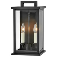 Hinkley 20010BK Weymouth 2 Light 14 inch Black Outdoor Wall Mount