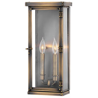 Hamilton 2 Light 18 inch Dark Antique Brass Outdoor Wall Mount