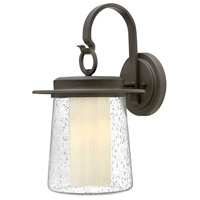 Hinkley Lighting Riley 1 Light Outdoor Wall Lantern in Oil Rubbed Bronze with Clear Seedy Glass 2015OZ-LED