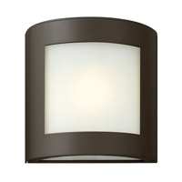Hinkley 2020BZ-GU24 Solara 1 Light 9 inch Bronze Outdoor Wall in Inside-White Etched, GU24