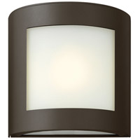 Solara 1 Light 9 inch Bronze Outdoor Wall Lantern in Inside-White Etched, Incandescent