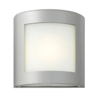 Hinkley 2020TT-GU24 Solara 1 Light 9 inch Titanium Outdoor Wall in Inside-White Etched, GU24