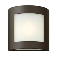 Hinkley Lighting Solara 1 Light Outdoor Wall Lantern in Bronze with Inside White Etched Glass 2020BZ-LED