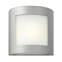 Solara 1 Light 9 inch Titanium Outdoor Wall Lantern in Inside White Etched, LED, Inside White Etched Glass