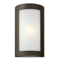 Hinkley Lighting Solara 1 Light Outdoor Wall Lantern in Bronze with Inside White Etched Glass 2024BZ-LED