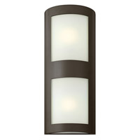 Solara 1 Light 22 inch Bronze Outdoor Wall in Inside-White Etched, GU24