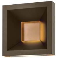 Plaza LED 10 inch Bronze Outdoor Wall Mount, Etched Acrylic Lens