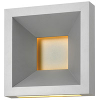 Plaza LED 10 inch Titanium Outdoor Wall Mount, Etched Acrylic Lens