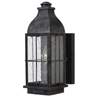 Hinkley 2040GS Bingham 1 Light 13 inch Greystone Outdoor Wall Mount in Candelabra, Clear Seedy Glass