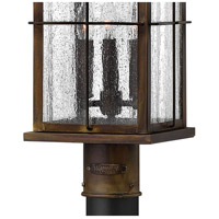 Hinkley 2041SN Bingham 3 Light 23 inch Sienna Outdoor Post Mount in Candelabra, Clear Seedy Glass, Post Sold Separately alternative photo thumbnail
