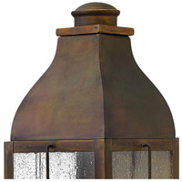Hinkley 2044SN Bingham 2 Light 16 inch Sienna Outdoor Wall Mount in Candelabra, Clear Seedy Glass alternative photo thumbnail