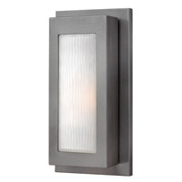 Titan 1 Light 14 inch Hematite Outdoor Wall Lantern in Incandescent