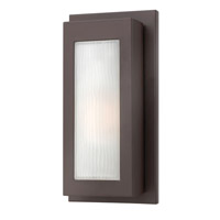 Titan 1 Light 14 inch Buckeye Bronze Outdoor Wall in GU24, Etched Glass