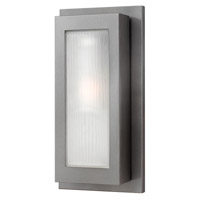Hinkley 2054HE Titan 1 Light 18 inch Hematite Outdoor Wall Lantern in Incandescent