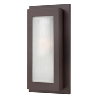 Titan 1 Light 18 inch Buckeye Bronze Outdoor Wall in GU24, Etched Glass