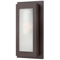 Hinkley 2054KZ Titan 1 Light 18 inch Buckeye Bronze Outdoor Wall Mount in Incandescent