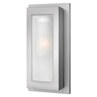 Titan 1 Light 18 inch Titanium Outdoor Wall in GU24, Etched Glass