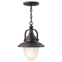 Hinkley Lighting Pembrook 1 Light Outdoor Hanging Lantern in Spanish Bronze 2082SB-LED