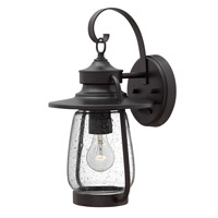 Hinkley Lighting Calistoga 1 Light Outdoor Wall Lantern in Spanish Bronze with Clear Seedy Glass 2090SB-LED
