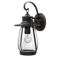 Hinkley 2094SB-LED Calistoga 1 Light 18 inch Spanish Bronze Outdoor Wall Lantern in LED, Clear Seedy Glass