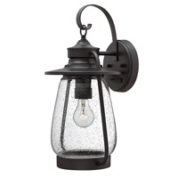 Hinkley 2095SB-LED Calistoga 1 Light 19 inch Spanish Bronze Outdoor Wall Lantern in LED, Clear Seedy Glass