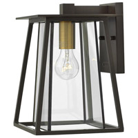 Hinkley 2100KZ Walker 1 Light 12 inch Buckeye Bronze Outdoor Wall Mount, Clear Glass