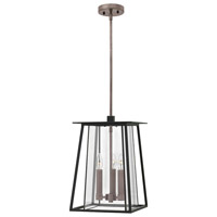 Walker LED 12 inch Black Outdoor Hanging Light