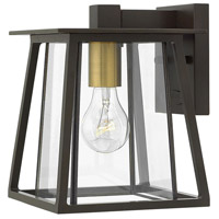Hinkley 2106KZ Walker 1 Light 10 inch Buckeye Bronze Outdoor Mini Wall Mount, Clear Glass
