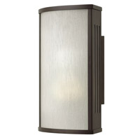 Hinkley 2110BZ-GU24 District 1 Light 12 inch Bronze Outdoor Wall in GU24, Rain Glass