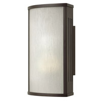 Hinkley 2110BZ District 1 Light 12 inch Bronze Outdoor Wall in Incandescent, Rain Glass