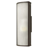Hinkley 2114BZ District 1 Light 18 inch Bronze Outdoor Wall in Incandescent, Rain Glass