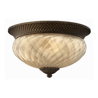 Hinkley 2123PZ-ES Plantation 2 Light 16 inch Pearl Bronze Outdoor Flush Lantern photo thumbnail