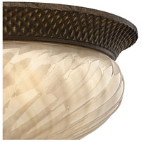 Hinkley 2123PZ Plantation 3 Light 16 inch Pearl Bronze Outdoor Flush Mount in Incandescent alternative photo thumbnail