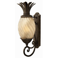 Hinkley Lighting Plantation 1 Light Outdoor Wall Lantern in Pearl Bronze 2124PZ-ES