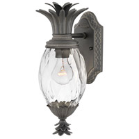 Hinkley 2126MB Plantation 1 Light 14 inch Museum Black Outdoor Wall Mount