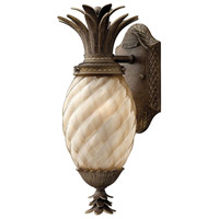 Plantation 1 Light 14 inch Pearl Bronze Outdoor Wall Lantern in Incandescent