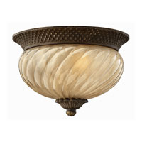 Hinkley Lighting Plantation 2 Light Outdoor Flush Lantern in Pearl Bronze 2128PZ-ES