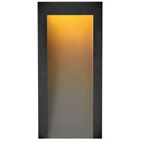 Hinkley 2144TK Taper LED 15 inch Textured Black Outdoor Wall Mount