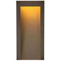 Hinkley 2144TR Taper LED 15 inch Textured Oil Rubbed Bronze Outdoor Wall Mount Coastal Elements